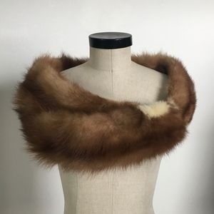 Vintage Fox and Blond Mink Wrap c. 1950 BEAUTIFUL